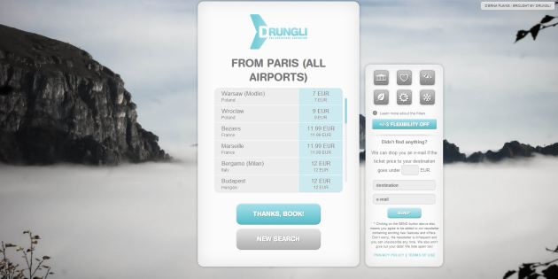 Drungli: Helping globetrotters find the cheapest fares since 2012